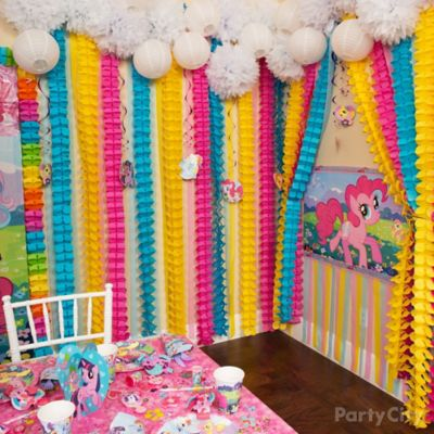 My Little Pony Rainbow Wall Decor Idea