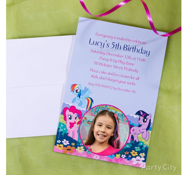 My Little Pony Custom Invite Idea