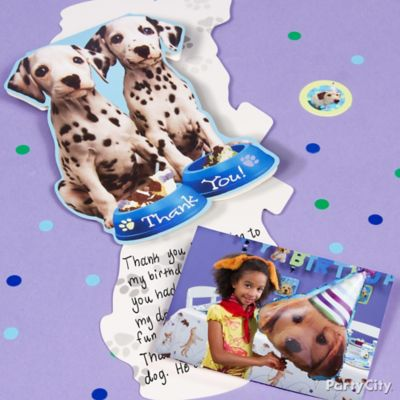 Party Pups Thank You Note Idea