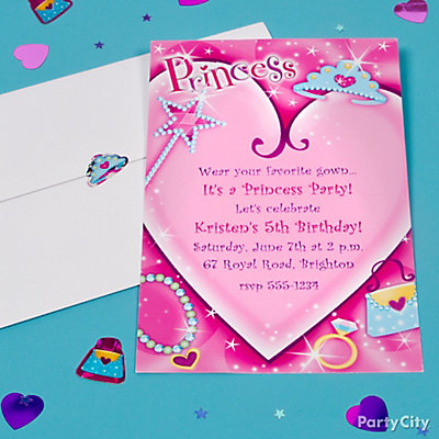 Princess Custom Invite Idea