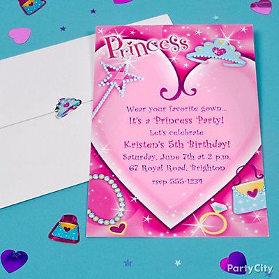 Princess Custom Invite Idea
