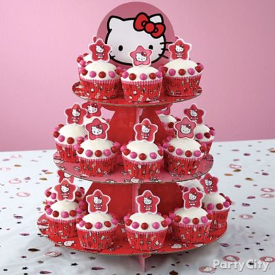 Hello Kitty Cupcake Tower How To