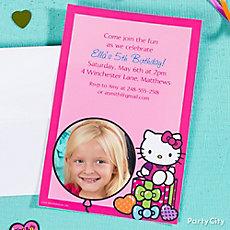 Hello Kitty Custom Invite Idea