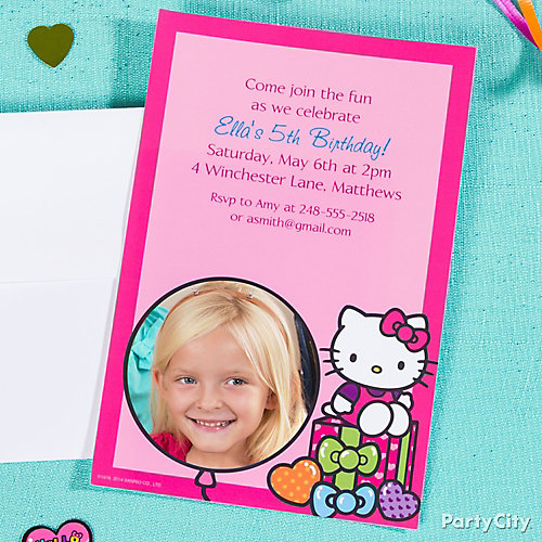Custom Hello Kitty Invitations Idea Party City – Personalized Hello Kitty Birthday Invitations