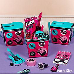 Rocker Girl Favor Box Idea