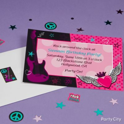 Rocker Girl Custom Invite Idea