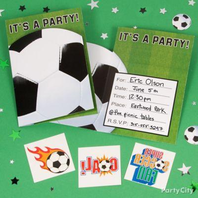 Soccer Invite with Surprise Idea