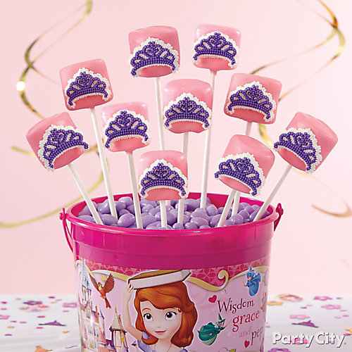 Sofia the First Marshmallow Pops How-To