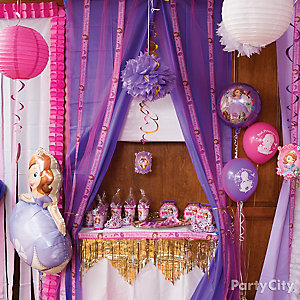 Sofia the First Favors Table Idea