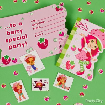 Strawberry Shortcake Invite with Surprise idea