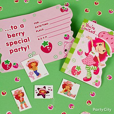 Strawberry Shortcake Invite with Surprise idea