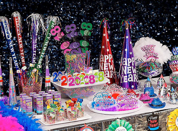 Colorful New Years Eve Party Ideas