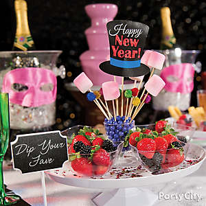 NYE Chocolate Dipped Fruit Idea