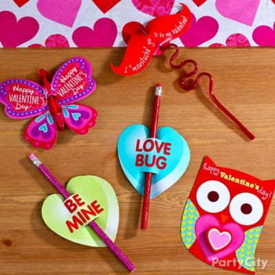Valetine's Day Classroom Pencil Valentines Idea