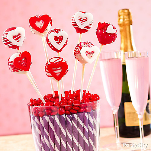 Valentine's Day Heart Cake Pops Idea