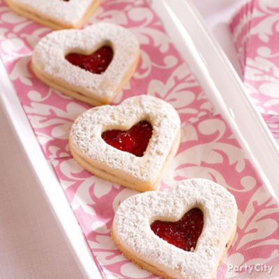 Heart Linzer Cookies Idea