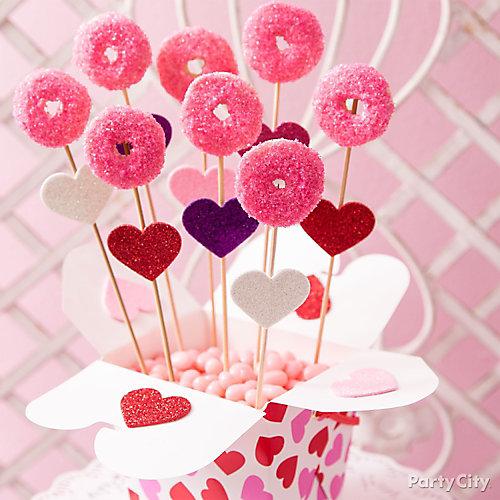 Valentines Day Doughnut Pops Idea