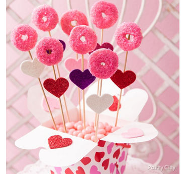 Valentines Day Doughnut Pops Idea