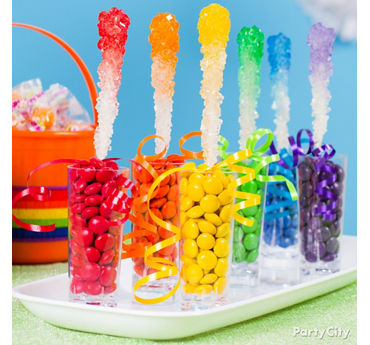Rainbow Ombre Rock Candy Idea