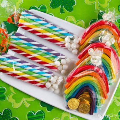 Lucky Rainbow Candy Favors Ideas