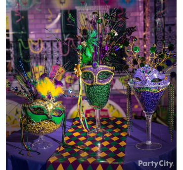 Mardi Gras Beads Display Idea