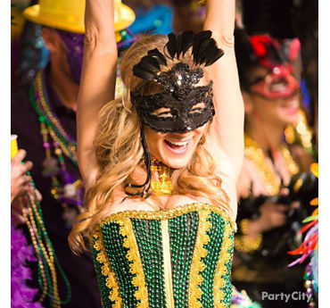 DIY Mardi Gras Bead Bustier How To