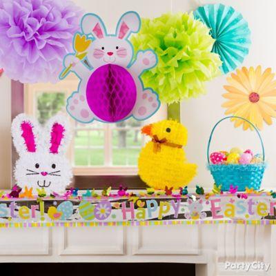 Fluffy Bunny Mantel Idea