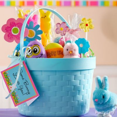 Super Sweet Blue Easter Basket Idea
