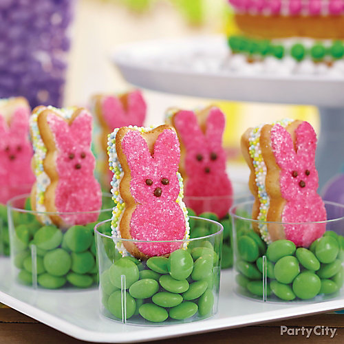 Peeps Bunny Cookie Sandwiches How To