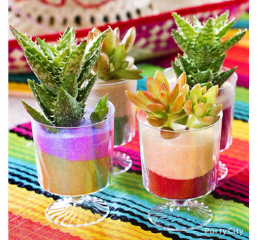 Fiesta Mini Cactus Decorations Idea