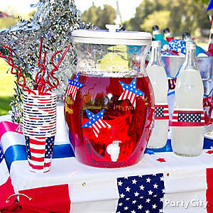 4th of July Drink Station Idea