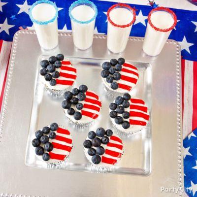 American Flag Cupcakes Idea