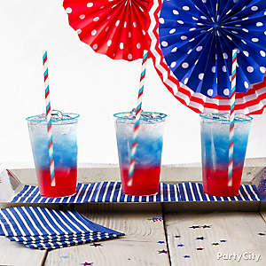 Red White Blue Drinks Idea