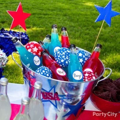 4th of July Balloon Ice Pack Idea