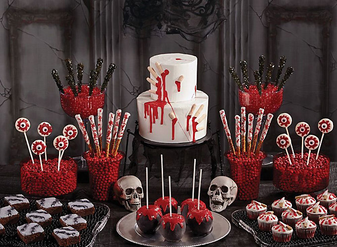 bloody good treats how tos - Scary Halloween Party Decorations