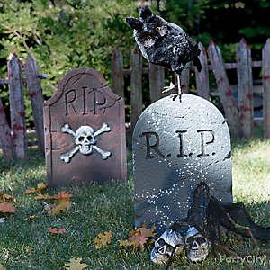 Halloween Owl & Tombstone Idea