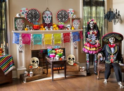 Day of the Dead Mantel Decorating Ideas