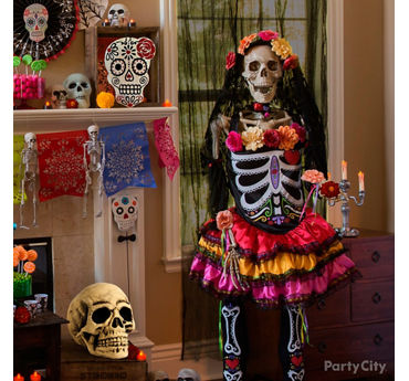 Day of the Dead Latin Lady Skeleton Idea