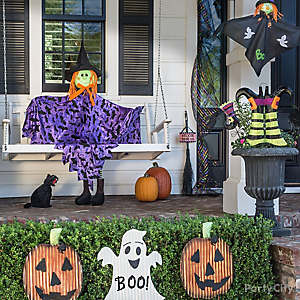Halloween Witch on a Porch Swing Idea