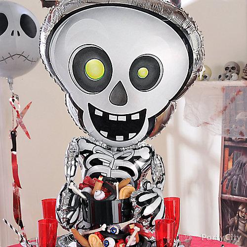 Skeleton Balloon & Eyeball Container Idea