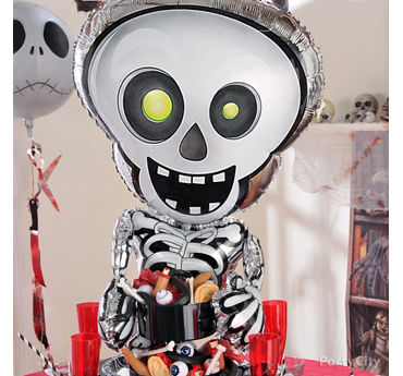 Skeleton Balloon & Eyeball Container Idea