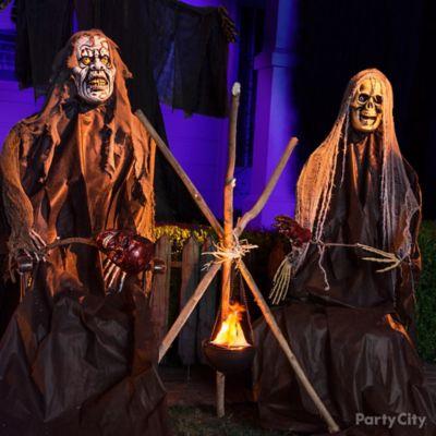 Halloween Roasting Heads Idea