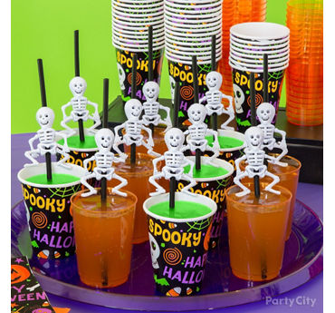 Kid Friendly Skeleton Straws Drink Idea