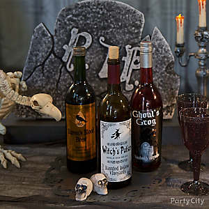 Halloween Wine Label Idea