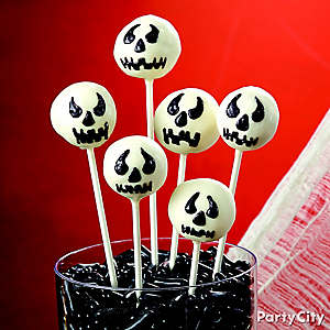Scary Ghost Doughnut Pops How To
