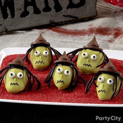 Scary Witch Covered Strawberries How To