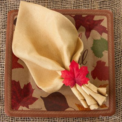 Napkin Leaf Ring Idea