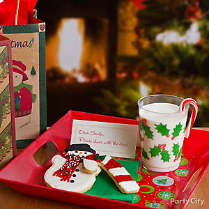 Candy Cane Cookies for Santa Idea