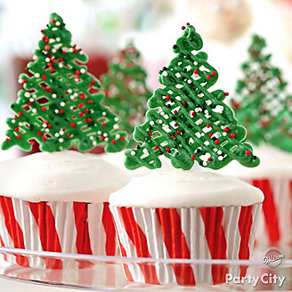 Fir Tree Cupcake Idea