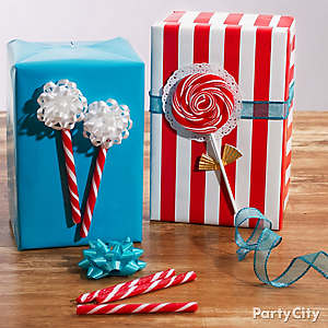 Candy Accents Gift Wrap DIY